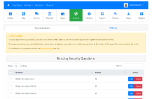 Article directory script manage security.
