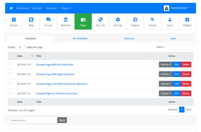Article Directory Script ~ Pages Management Module